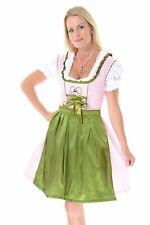 "3pcs Authentic Oktoberfest Dirndl Dress German Female Tracht Green ""Rehlein pink"