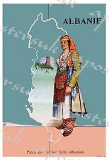 VINTAGE ALBANIA turismo POSTER A3/A4 stampa