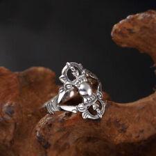925 Sterling Silver Tibetan Buddhism Vajra Dorje Ring Men Women A3573