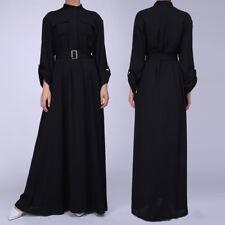 Women Muslim Dress Abaya Dubai Islamic Cocktail Ladies Plain Shirt Maxi Dresses