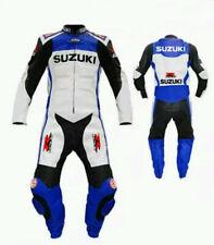 Suzuki 100% rara Mens motocicleta mono de cuero carrera de hombres ES