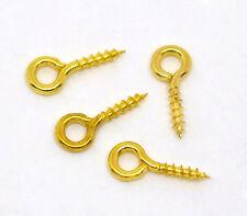 Lot 50-200 Dore 10mm Tige à Vis Perle Attache Pendentif Fimo Resine Semi Percees
