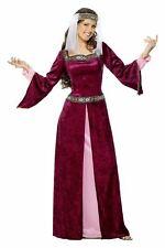 Señoras Deluxe Medieval Maid Marion De Robin Hood Maiden Fancy Dress Costume