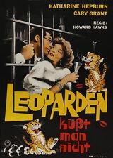 Bringing up baby Cary Grant Hepburn movie poster print 5