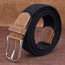 Lovers Strap Belts Mens Strip Luxury Knitted Elastic Pin Buckle Belt