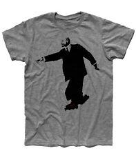 T-shirt uomo BANKSY Lenin sui pattini rollerblade skates street urban art