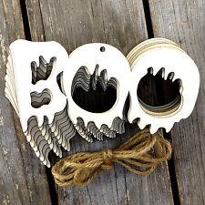 10x De Madera Boo Cadena palabra Craft Formas 3mm de madera contrachapada de decoración de Halloween