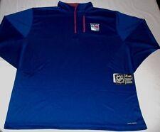 New York Rangers Quarter Zip Long Sleeve Jersey Shirt Cool Base Plus Sizes NHL