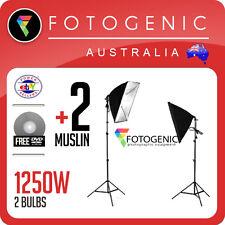 Full Photo Studio Soft Box Softbox Lighting Kit Continuous Light 1250W Videos