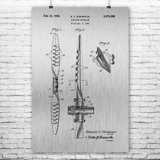 Airplane Propeller Poster Print Airplane Decor Aviation Gift Airplane Blueprint