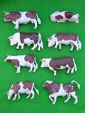 BRITAINS FARM ANIMAL MODELS, BROWN BULL & COW MULTI-LISTING