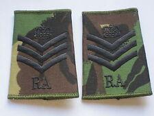 Passante di rango: Staff Sergeant , Royal Artillery,DPM 3 Angolo & Corona & RA)