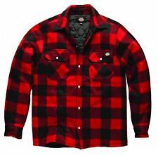 Dickies Holzfällerhemd Portland rot grün blau Fleece gefüttert Hemd Holzfäller