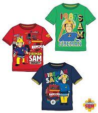 T-shirt manches courtes SAM LE POMPIER enfant NEUF 100% coton du 4 au 10 ans