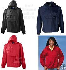 Augusta Sportswear Packable Half-Zip Pullover Jacket 3130 S-2XL Hooded Rain Coat