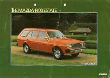 Mazda 323 1400 Estate 1980-82 UK Market Foldout Sales Brochure