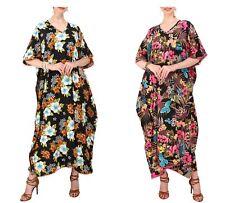 Miss Lavish Femmes Caftan Tunique Kimono Robe Été Plage Couvrir Taille Plus Maxi