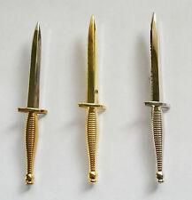COMMANDO DAGGER KILT PIN - CHOOSE FROM 3 - BIMETAL, GOLD, SILVER COLOURED METAL