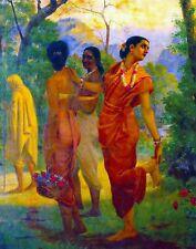 Shakuntala by Raja Ravi Varma. Fine Art Repro. Made in U.S.A Giclee Prints