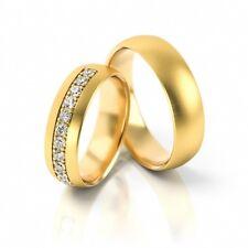 1 Paar Trauringe Hochzeitsringe Gold 333, 585 oder 750 mit Diamanten 11x 0,03ct