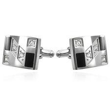 Manschettenknöpfe Edelstahl Stainless Steel Cufflinks - verschiedene Designs!