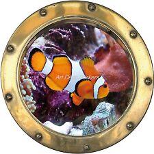 Sticker trompe l'oeil déco Poisson réf:hublot H357