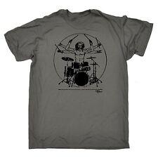 Leonardo Drummer Rocks T-SHIRT drums music drum kit band funny birthday gift
