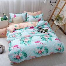 Flamingo Quilt Duvet Cover Set Queen/Double Size Bed Doona Cover Pillowcases
