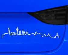 Hamburg Skyline Silhouette Aufkleber Kontur  25 Farben 8 Größen Autoaufkleber