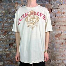 Quiksilver Reverse Tee Short Sleeve T-Shirt Bone White size M,XL