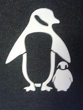 3 x car bumper stickers penguin daisy meerkat butterfly alien lizard surfer croc