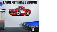 1961 Corvette 283 Coupe Wall Art Decal Sticker Graphic Garage Man Cave Decor NEW