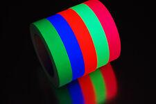1 Inch UV Blacklight Reactive Fluorescent Gaffer Tape 1 Roll x 25 Yards