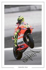 Valentino Rossi Ducati foto firmada impresión Autógrafo