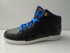 Niños Reebok Negro/Azul Zapatillas altas cordones v46507