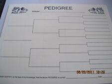 Working Springer Spaniel Blank Line Pedigree Sheets 10
