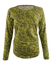 MICHAEL Michael Kors Women's Long Sleeve Shirred Printed Top