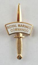 42 COMMANDO ROYAL MARINES GOLD DAGGER LAPEL PIN OR WALKING STICK MOUNT