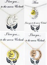 I love you to the Moon and Back Anhänger Halskette Karten schmuck Vincenza