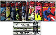 Lotto 9 Fumetti DIABOLIK ristampa + 1 anno X - da 201 a 210 - 1986/87