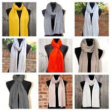 Soft Cashmere Scarf Knit Men Women Wool Grey New Warm Woven Muffler Wrap Black