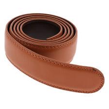 Men's Ratchet Leather Belt Replacement without Buckle Classic Business Belt