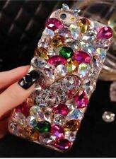 NUOVO DELUX COOL lusso Bling argento rosa e diamante Custodia per Vari Telefoni Cellulari