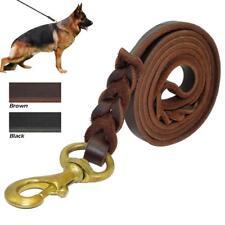 Genuine Braided Leather Dog Lead Training Dog Leash Best for German Shepherd K9