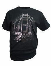 San Francisco Golden Gate with Charcoal Foil Print Men's T-Shirt