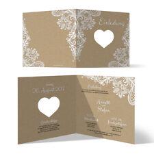 Lasergeschnittene Hochzeit Einladungskarten Hochzeitskarten Rustikal Kraftpapier