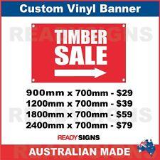 TIMBER SALE ( ARROW ) - CUSTOM VINYL BANNER SIGN - Australian Made