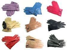 Femmes super doux Cuir Véritable Totalement Doublure Polaire gants hiver Driving