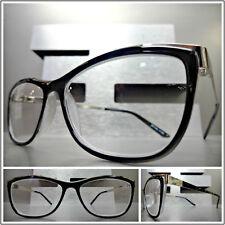 008999926067 Women VINTAGE RETRO CAT EYE Style READING EYE GLASSES READERS Black Silver  Frame