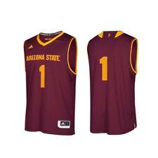 Arizona State Sun Devils NCAA Adidas #1 Maroon Replica Basketball Jersey